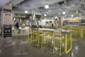 Brady Barstools in yellow, Microsoft's 36 Cafe