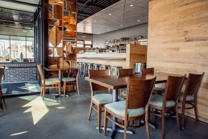 Maru Sushi - Wood Melissa Chairs, Spartan Tables