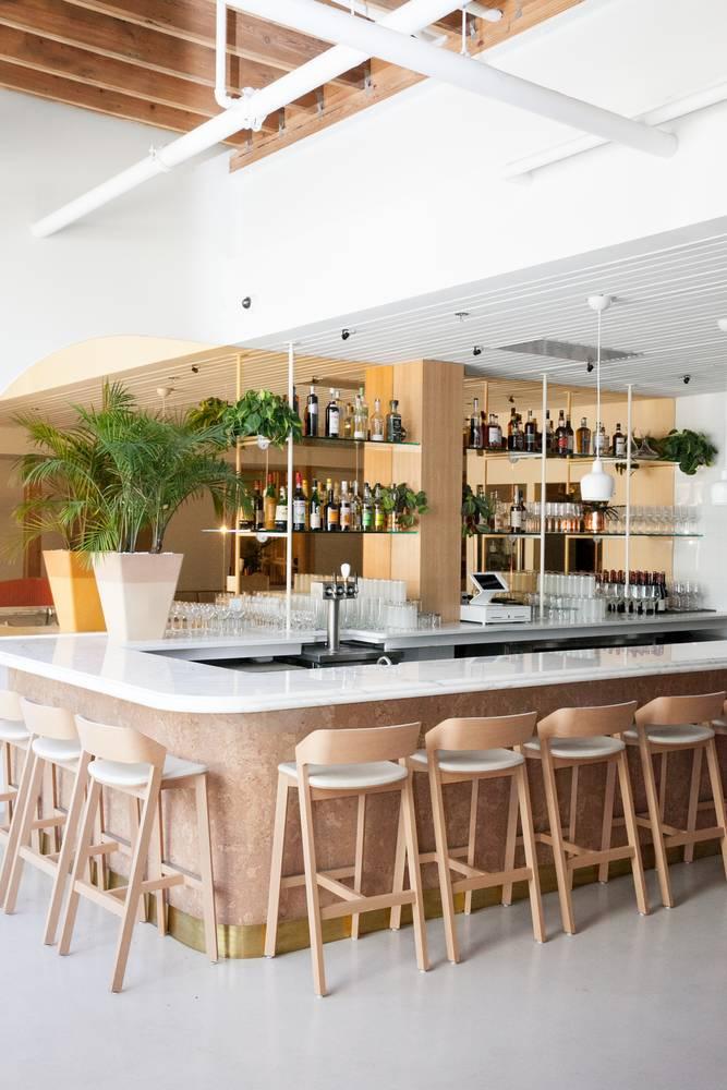 Merano Barstools installed at Little Octopus Restaurant