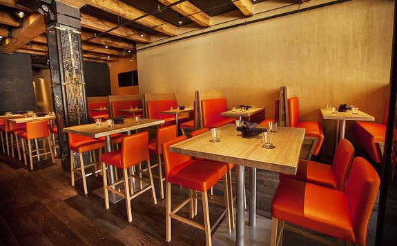 Reverie Bar - Cara Barstool and Rambo Table