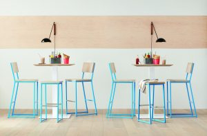 Brady Barstool Collection in Aspen and Sky Blue