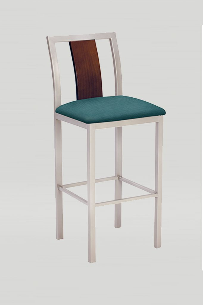 Jill Barstool with Wood Back and Upholstered Seat