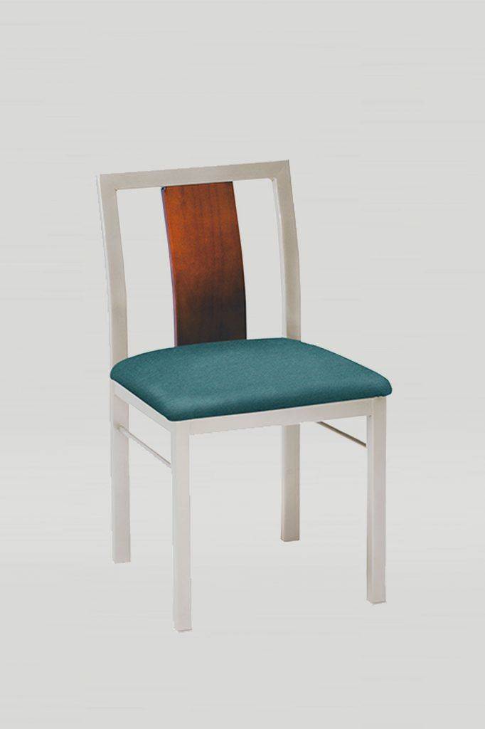 Jill Chair with Wood Slat Back