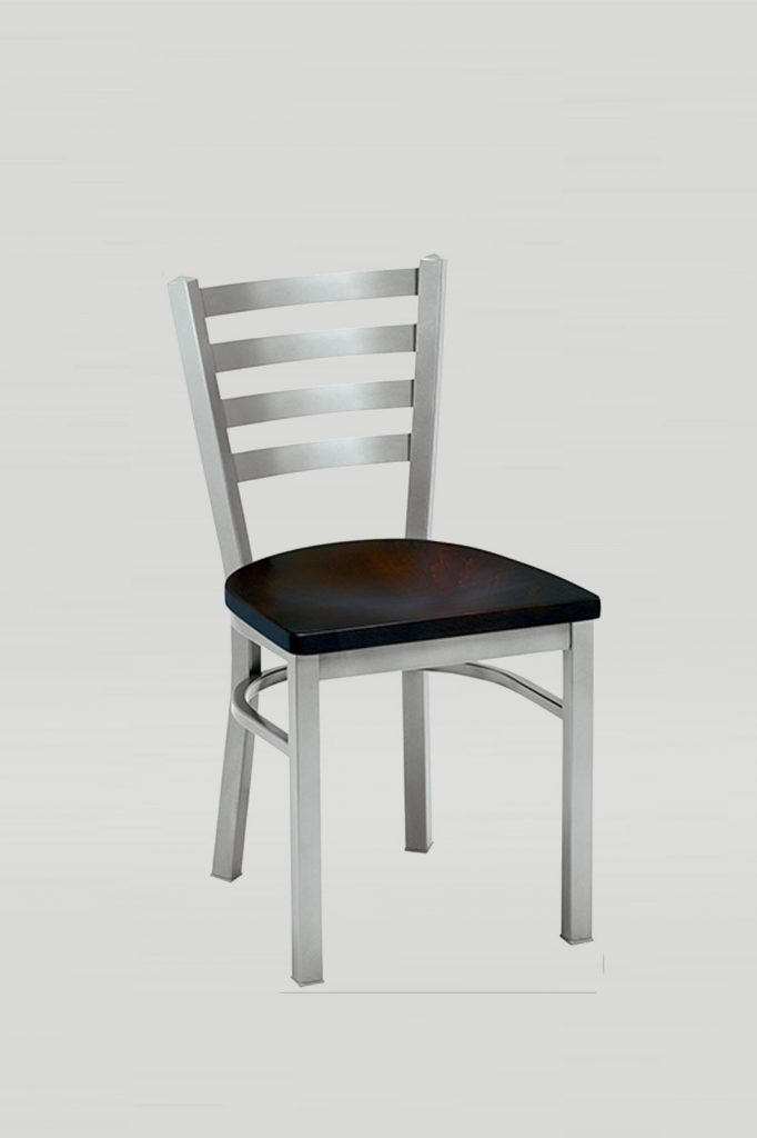Melissa Anne Chair with Horizontal Slats and Wood Seat
