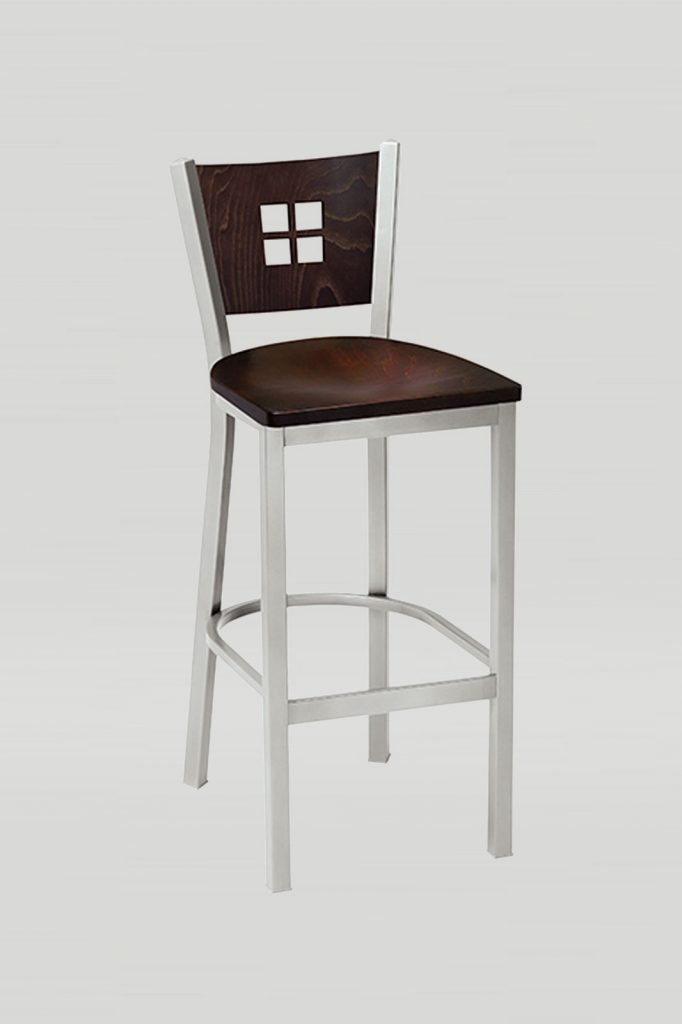Melissa Anne Barstool with Wood Back and Wood Seat