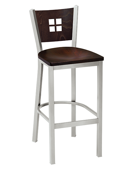 Melissa Anne Barstool with wood back 504BS