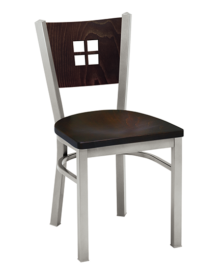 Melissa Anne Chair with wood back 504
