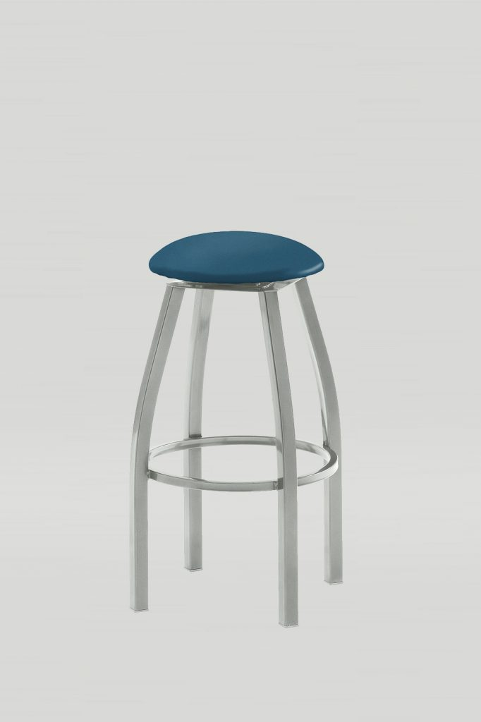 Atoll Swivel Barstool with Upholstered Seat Pad
