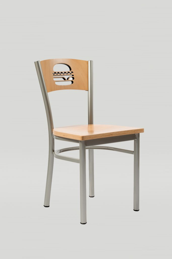 Artisan II Chair Wood Back with Hamburger Cut Out