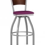 Artisan II Swivel Barstool With Wood Back