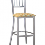 Mama Melissa Barstool with Metal Vertical Back