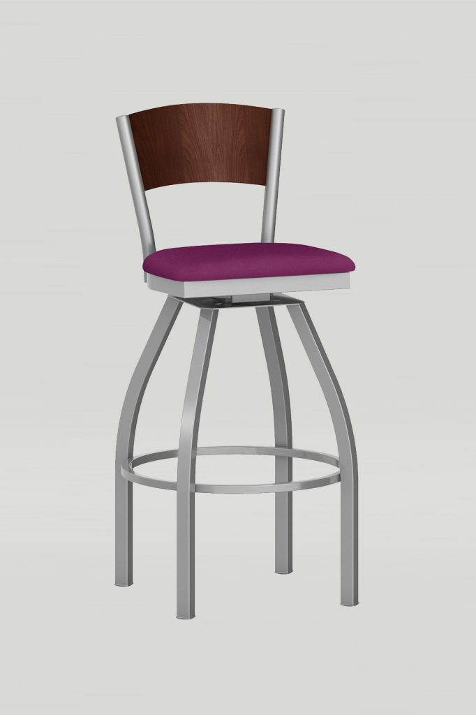 Artisan II Swivel Barstool with Wood Back