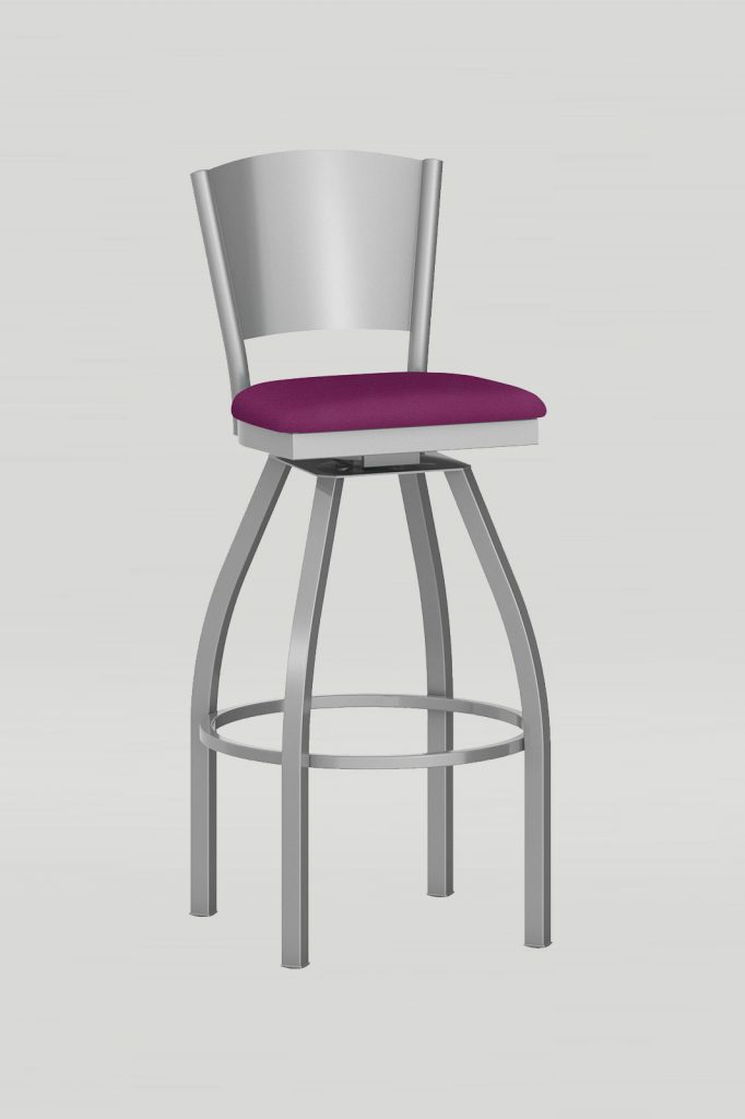 Artisan II Swivel Barstool with Metal Back
