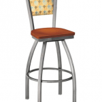 Mama Melissa Swivel Barstool With Upholstered Back