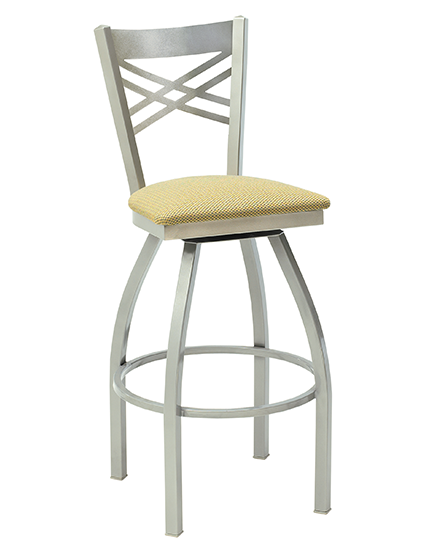 Melissa Swivel Barstool with Criss Cross Back