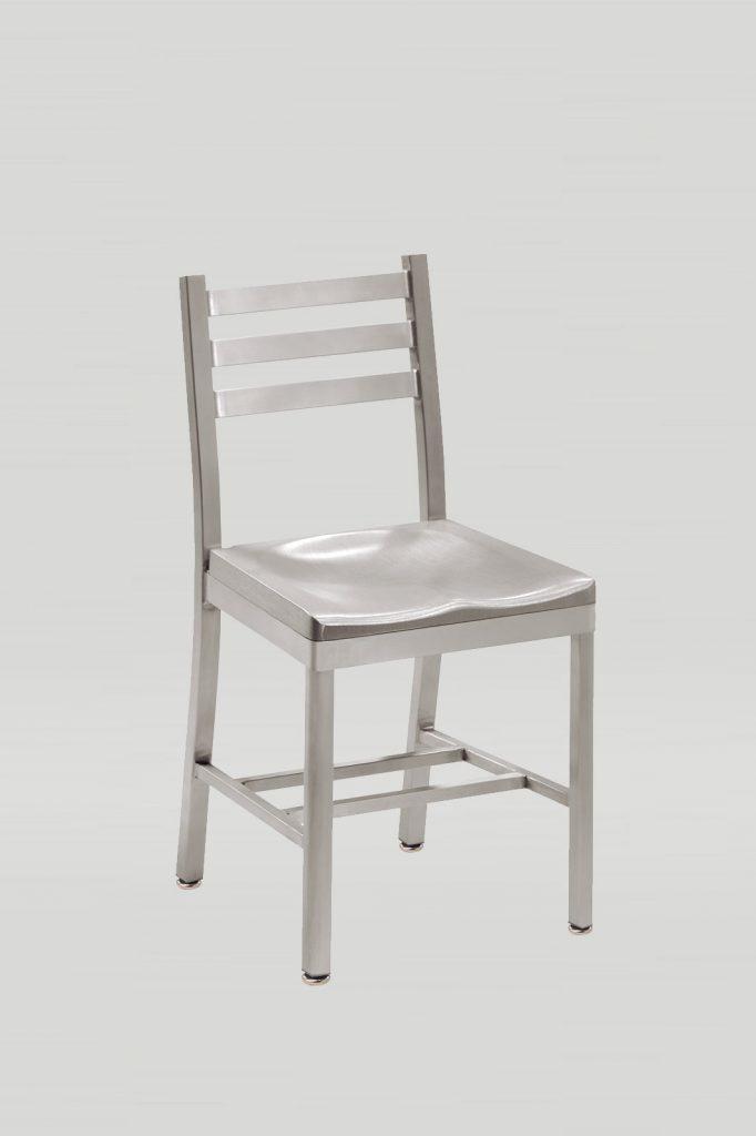 Atlantis Aluminum Chair with Aluminum Seat