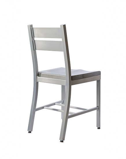 Atlantis Chair with Two Slat Back, Back View