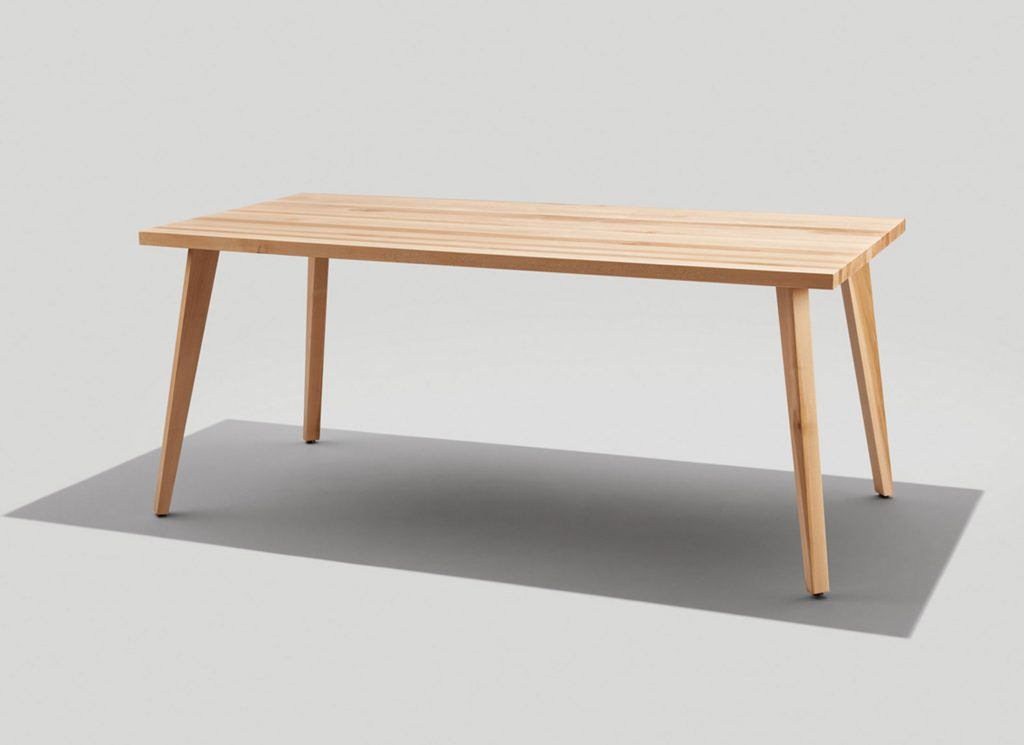 Andy Dining Table in Maple with Natural Finish
