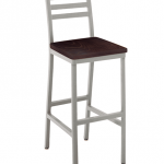 Atlantis Barstool With Wood Seat