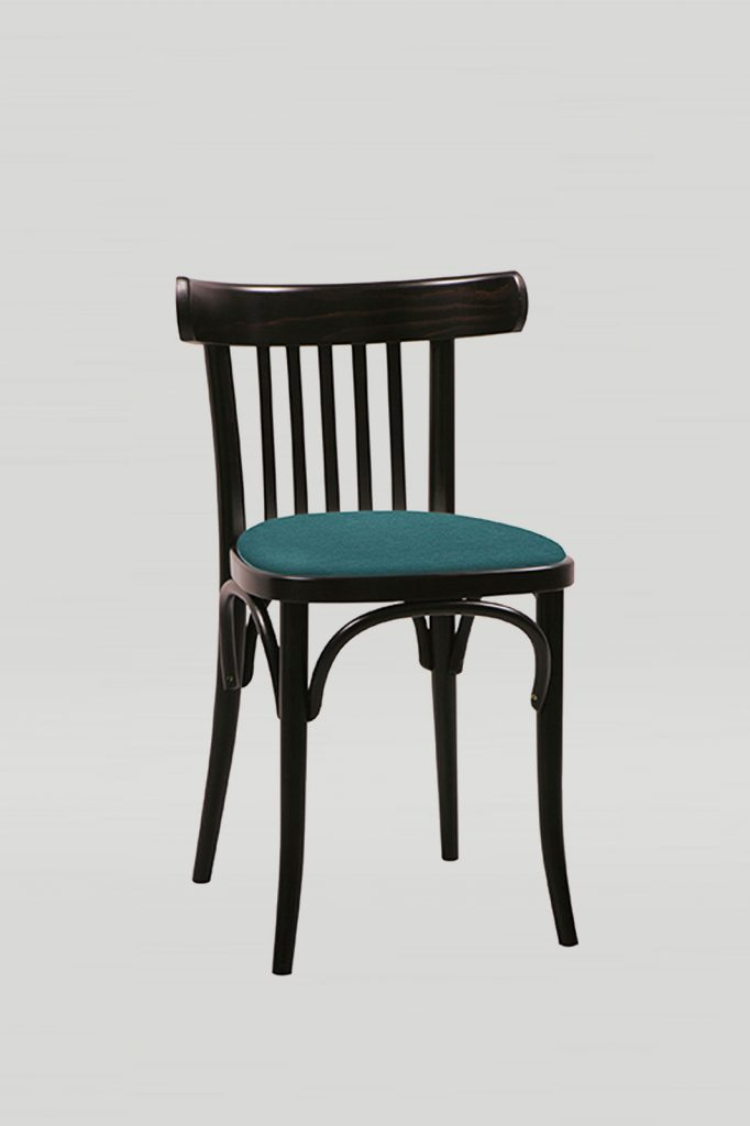 Bentwood No. 763 Cafe Chair in Kona with Upholstered Seat