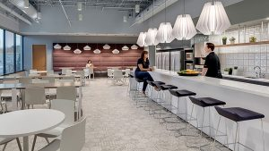 Brady Communal Table In Office designed by Perkins and Will