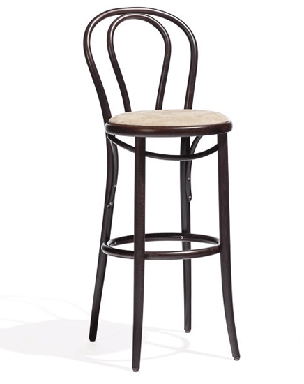 Bentwood Barstool No. 18 Upholstered