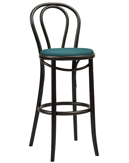 Bentwood No. 18 Barstool with upholstery