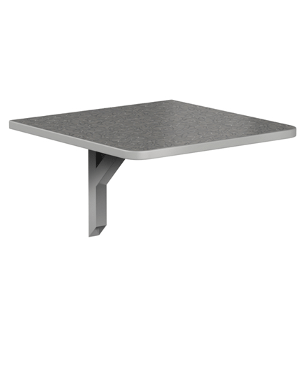 Cantilever Table with Laminate Top and T-Mold Edge