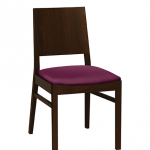 Chloe Chair with upholstered seat