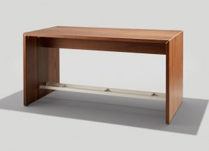 Dylan Communal Table In Walnut with Gloss White