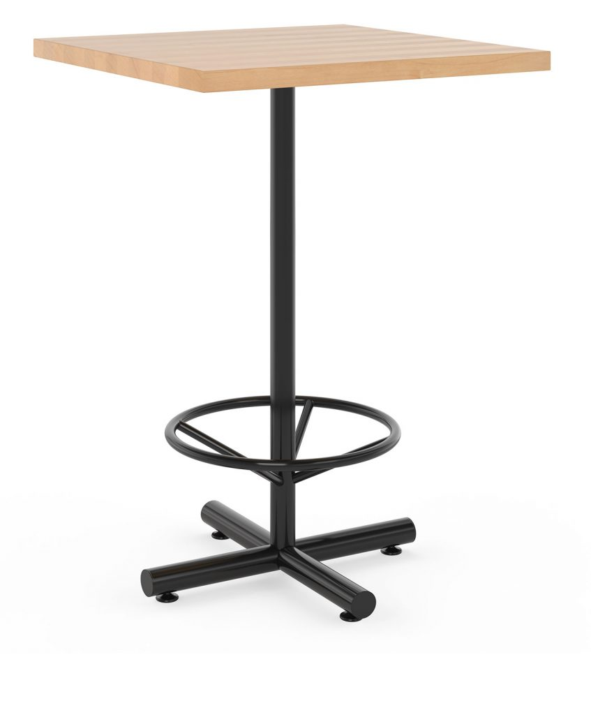 Jerome Bar Height Restaurant table with rectangular top and foot ring