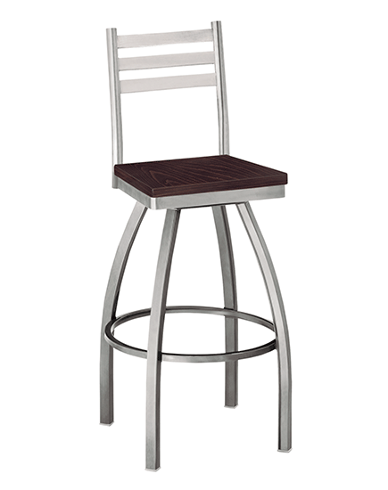 Ladderback Swivel Barstool