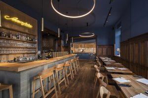 Merano Barstools Installed at Modern Restaurant