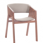 Partially Upholstered Armchair