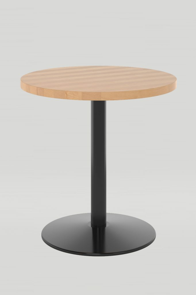 Dining Height Orbit Table with Solid Wood Table