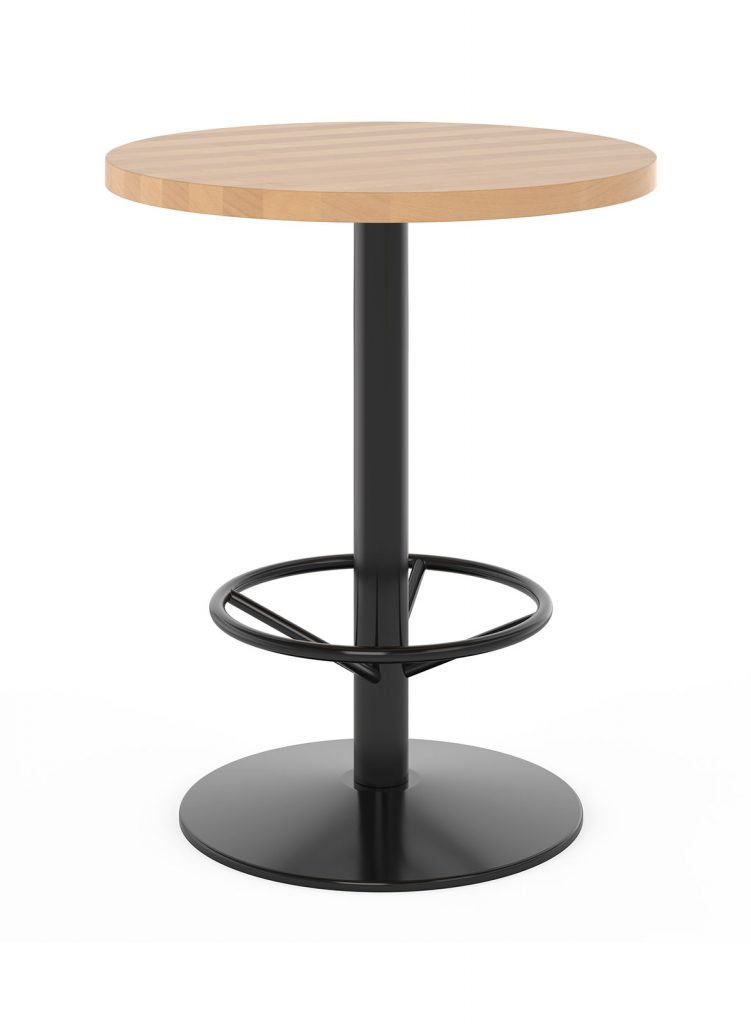 Counter Height Restaurant Table with Foot Ring