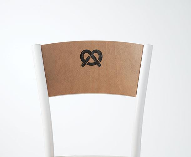 Pretzel Engraving on Artisan II chair/Barstool