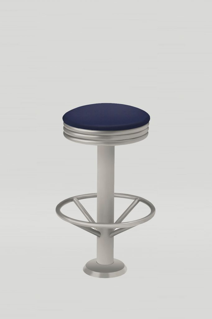 Rosie Retro Diner Stool with Foot Ring