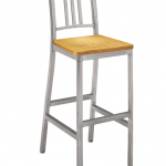 Siren Barstool with wood seat