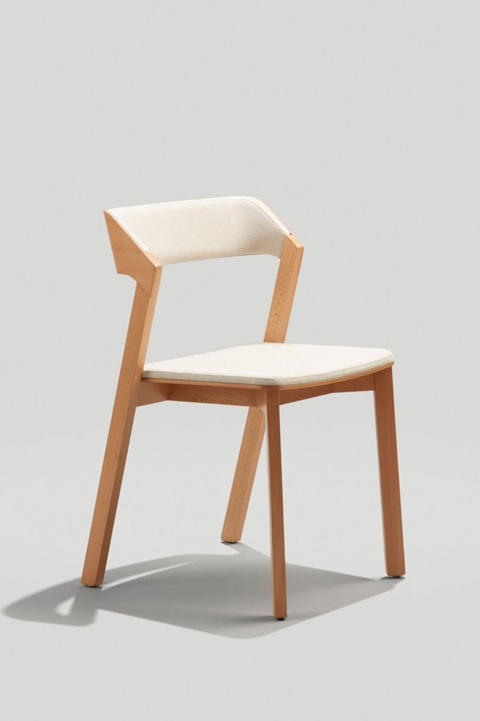 Merano Chair in Natural and Cream Fabric