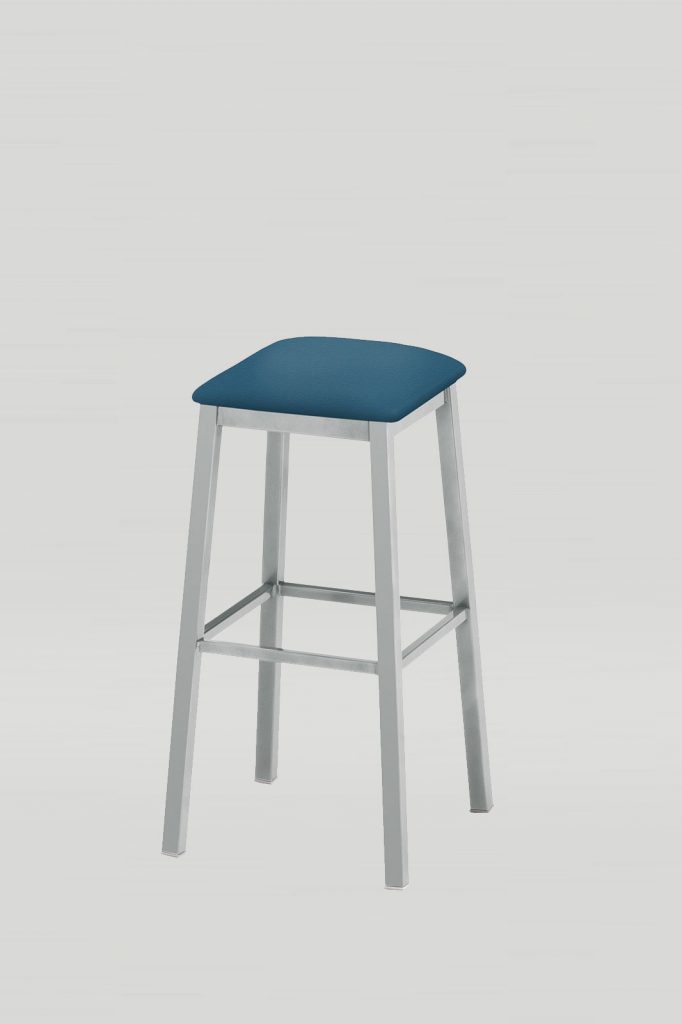 Atoll Barstool With Upholstered Seat