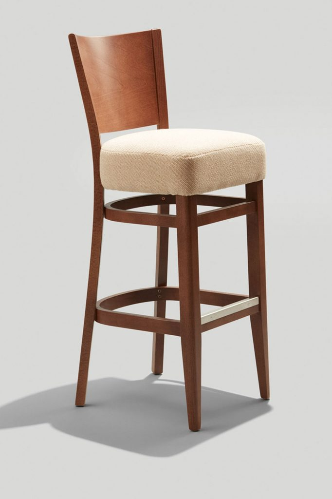 Wood Melissa Barstool With Double Pullman