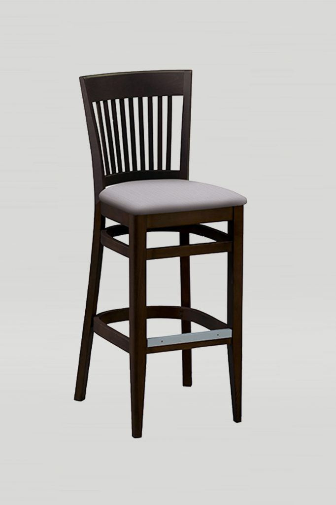 Wood Melissa Barstool with Vertical Slats