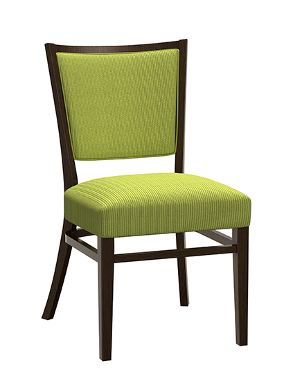 Wood Melissa Chair with upholstered back variation