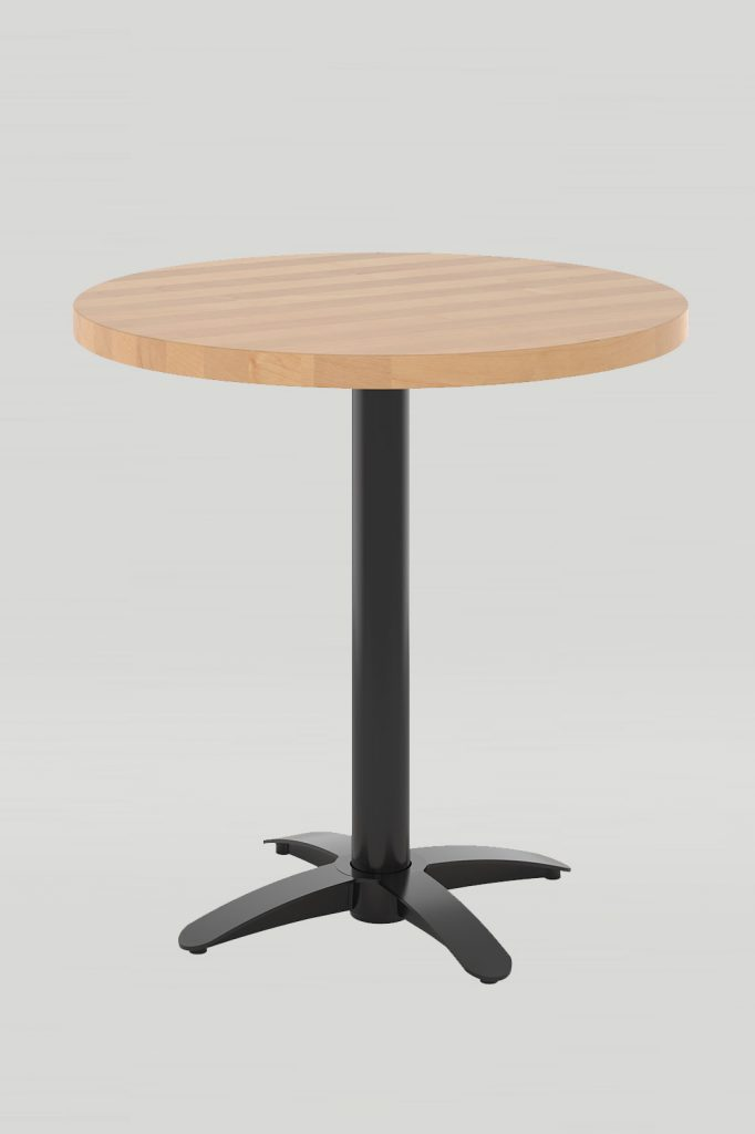Dining Height Zeus Table with Solid Wood Top
