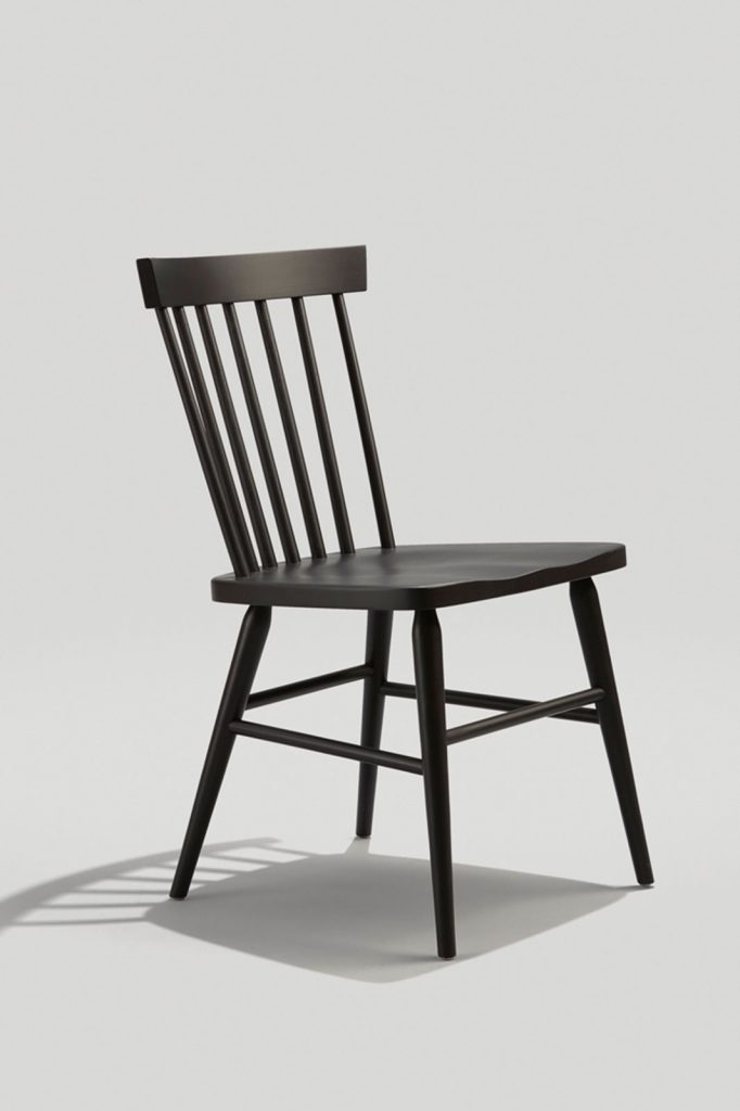 Hugh Chair in Black No Grain