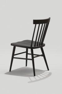 Back of Hugh chair in Black