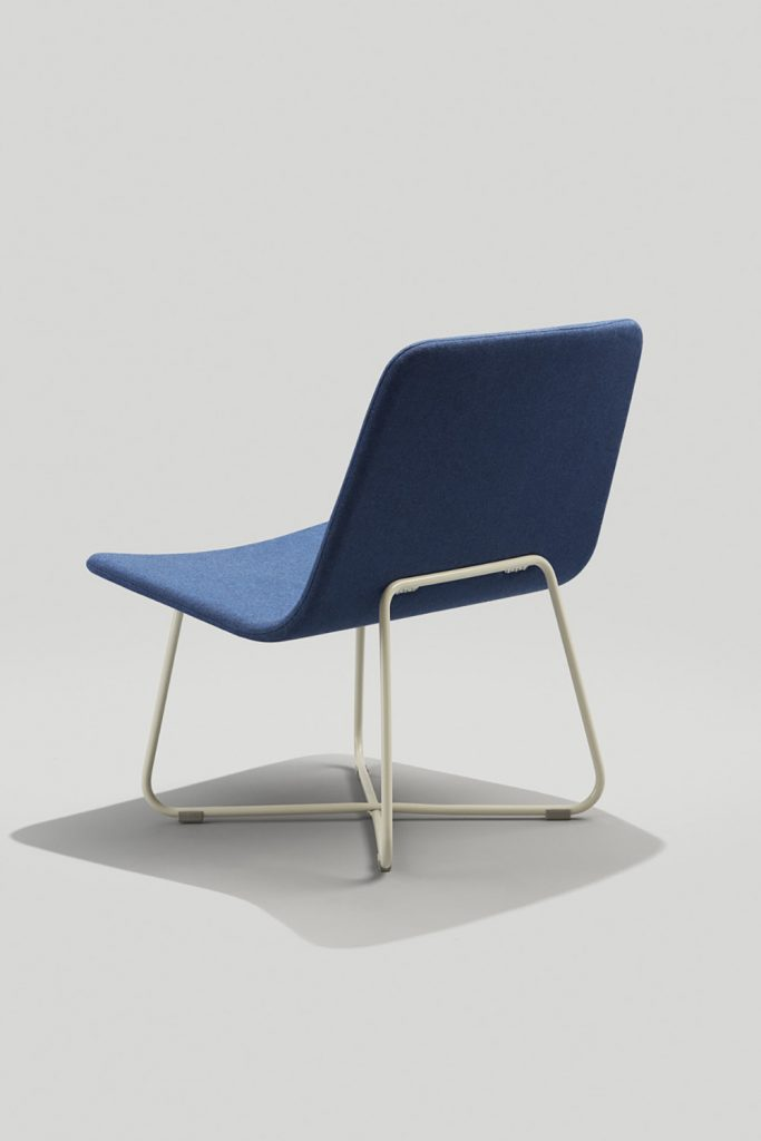 Harper Lounge Back in Fully Upholstered Blue