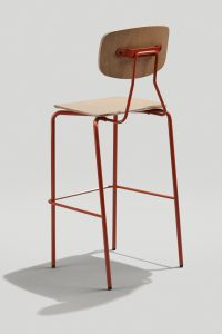 Reece Barstool in Copper Brown and Driftwood