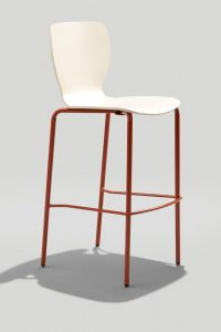 Felix Jr. Barstool in Copper Brown and Parchment